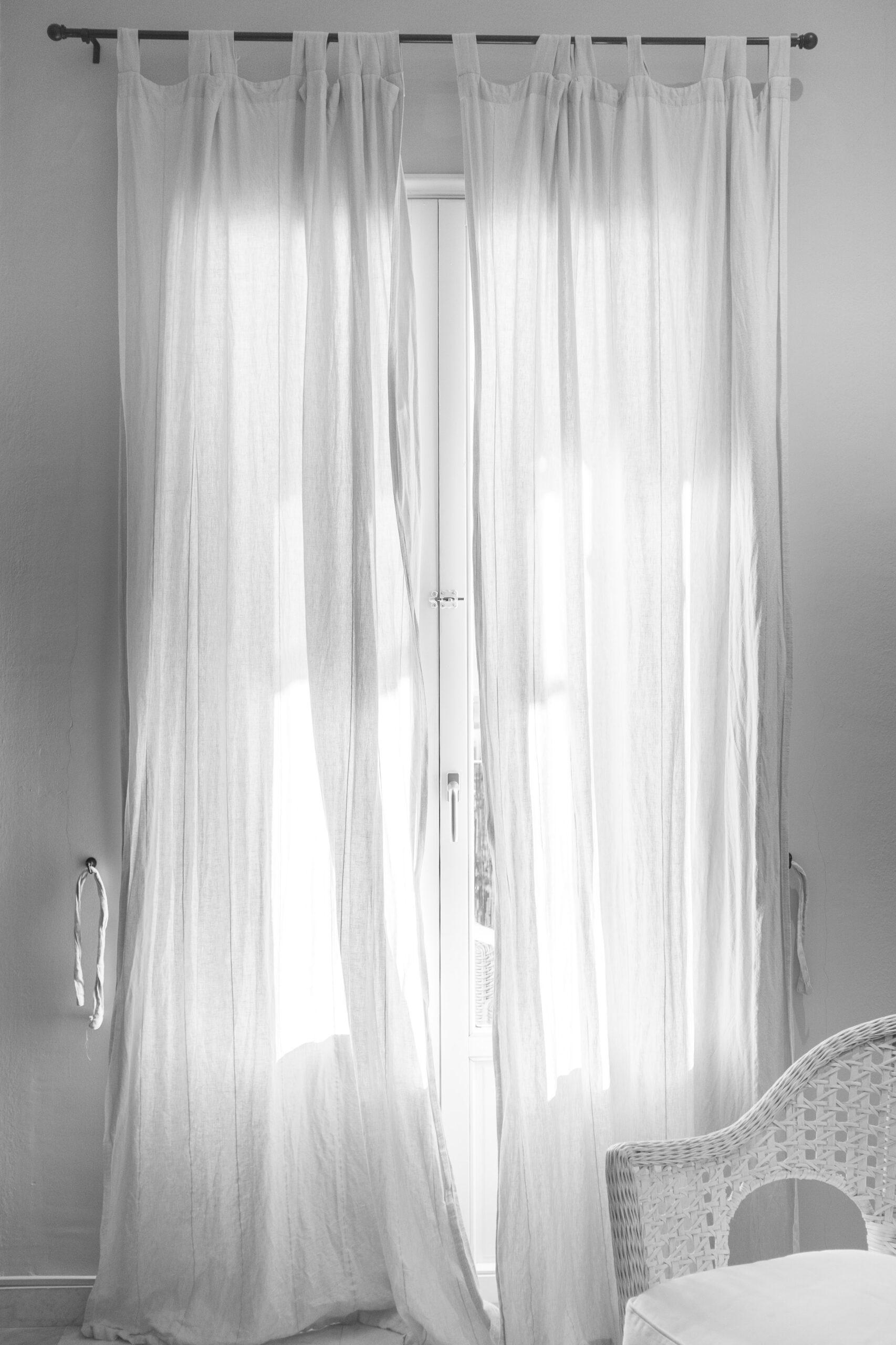 sätta upp gardiner