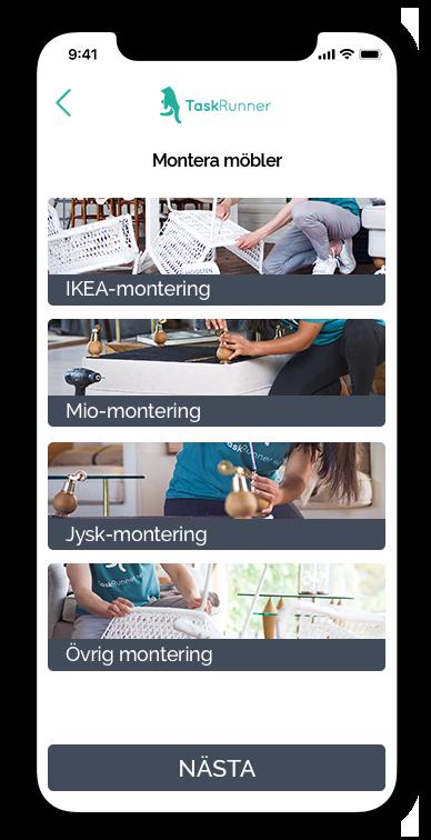 iPhone visar IKEA montering